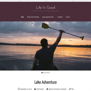 Life Is Good WordPress Theme
